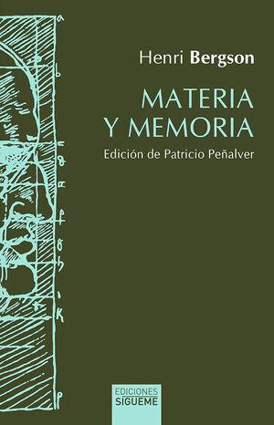 MATERIA Y MEMORIA