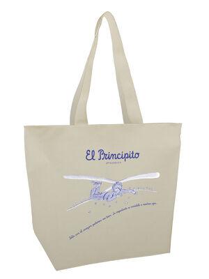 BOLSA MEGA SHOPPER EL PRINCIPITO - SOLO CON EL CORAZON